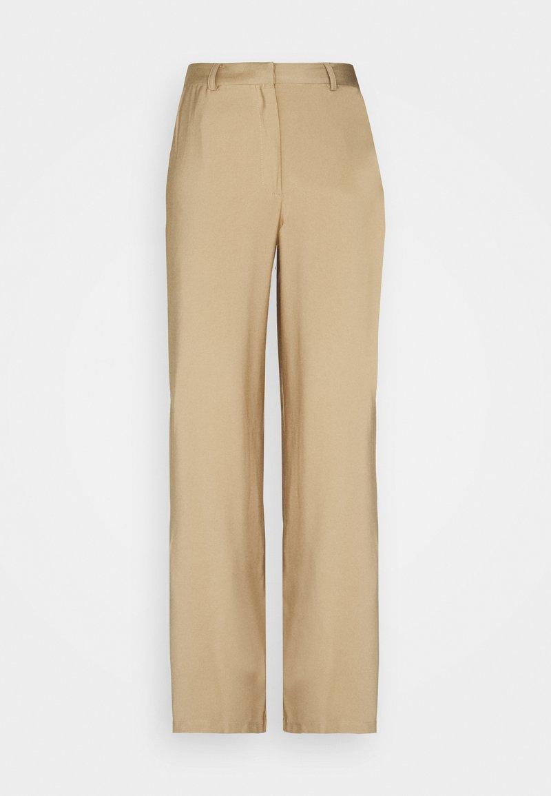 Anna Field - Wide Leg Smart Trouser - Trousers - beige