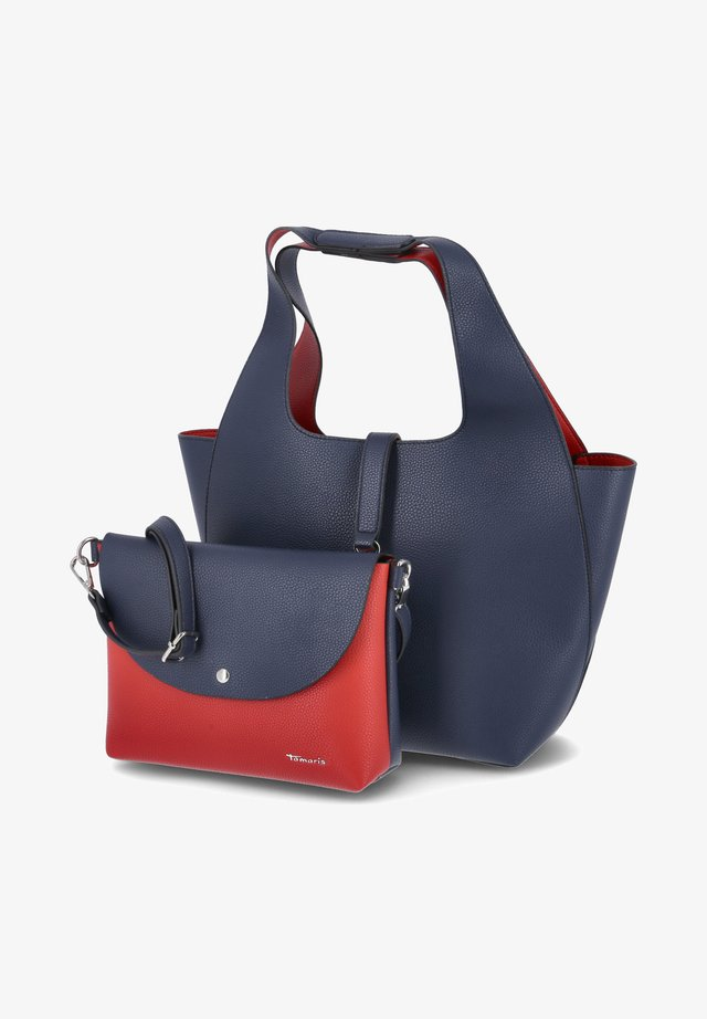 Shopping bag - blau rot