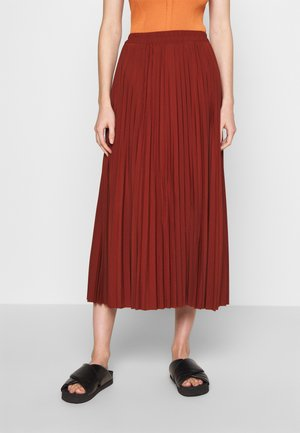 SLFALEXIS SKIRT - A-line skirt - mottled dark red