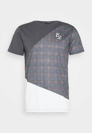 DIAGONAL CUT SEW TEE - Print T-shirt - charcoal