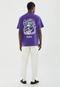PULL&BEAR - Print T-shirt - mauve - 2
