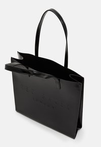 Ted Baker - ABZCON CRINKLE PATENT EMBOSSED LARGE ICON - Shopping bags - black - 2