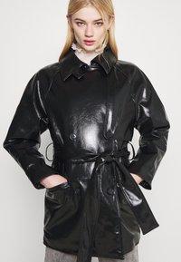 Weekday - JANIS SHORT JACKET - Short coat - black - 5