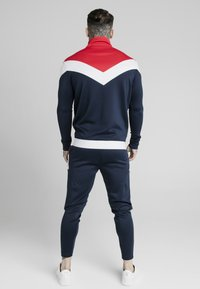 SIKSILK - RETRO QUARTER ZIP OVERHEAD TRACK  - Sweatshirt - navy/red/white - 2