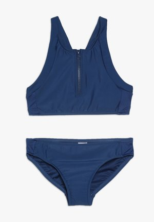 ZIP FRONT TANKINI - Bikinier - galaxy blue