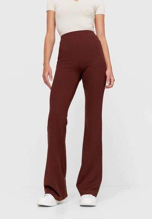 MIT SCHLAG  - Kalhoty - brown