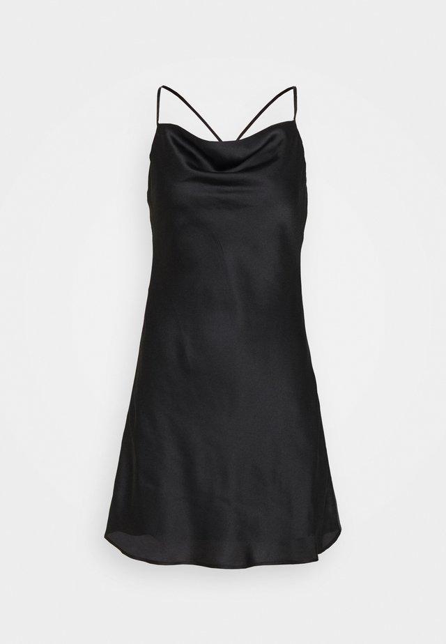 SLIP DRESS  - Vapaa-ajan mekko - black