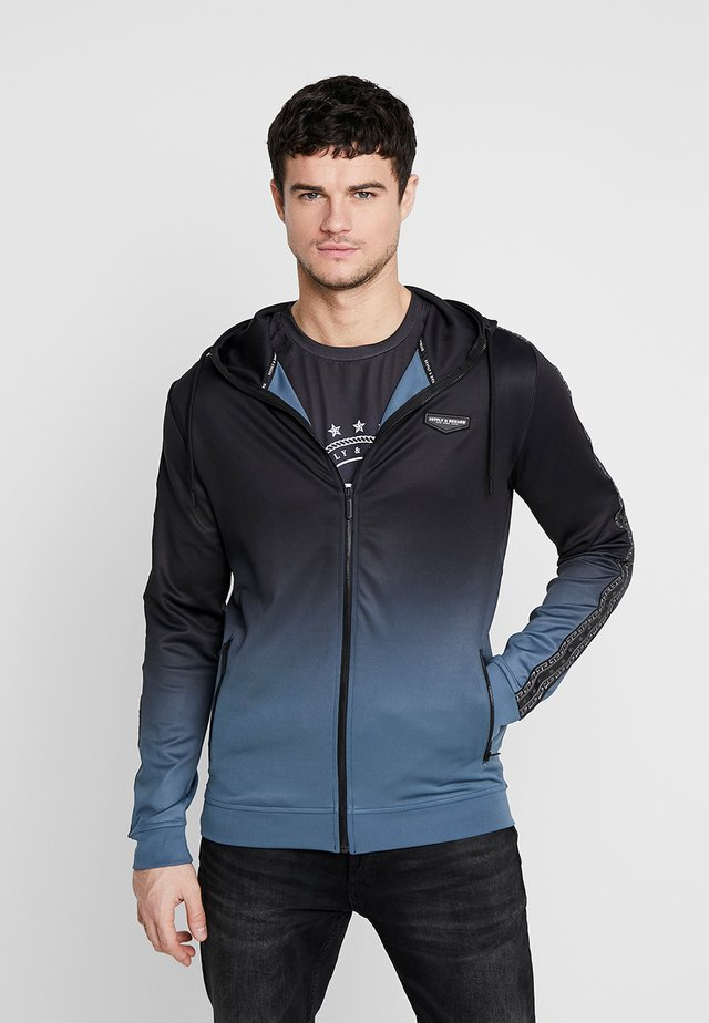 VANISH HOOD - Training jacket - blue/black fade