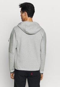 Nike Sportswear - Felpa con zip - dk grey heather/black - 2