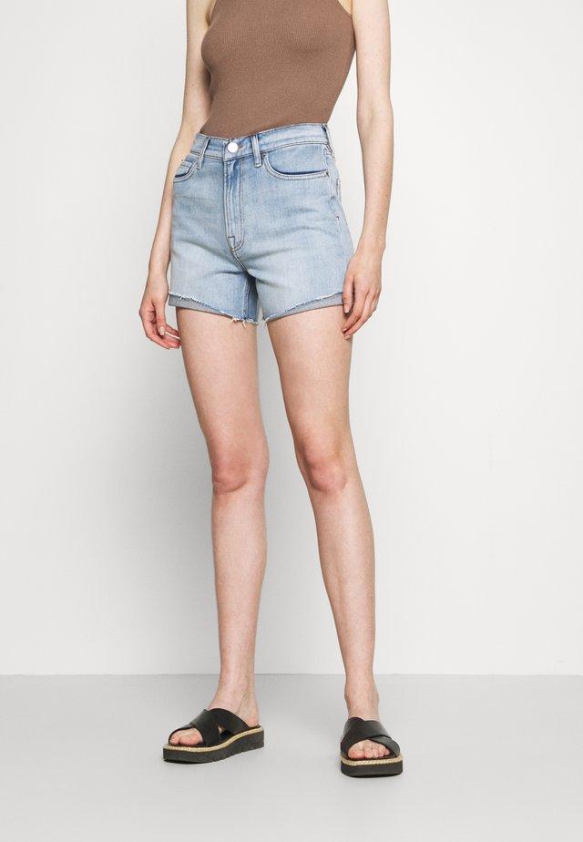 STRAIGHT WASH LOS FELIX - Denim shorts - denim blue