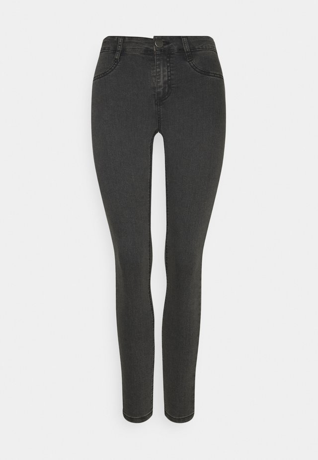 MID RISE - Jeansy Skinny Fit - washed black