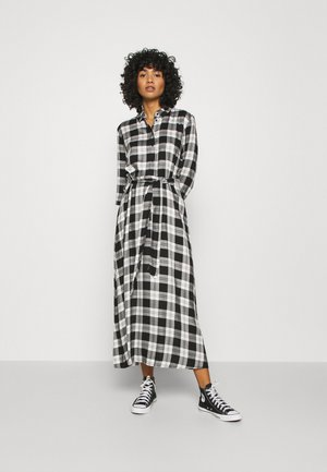 JDYSTAY MIDCALF DRESS - Shirt dress - black/white