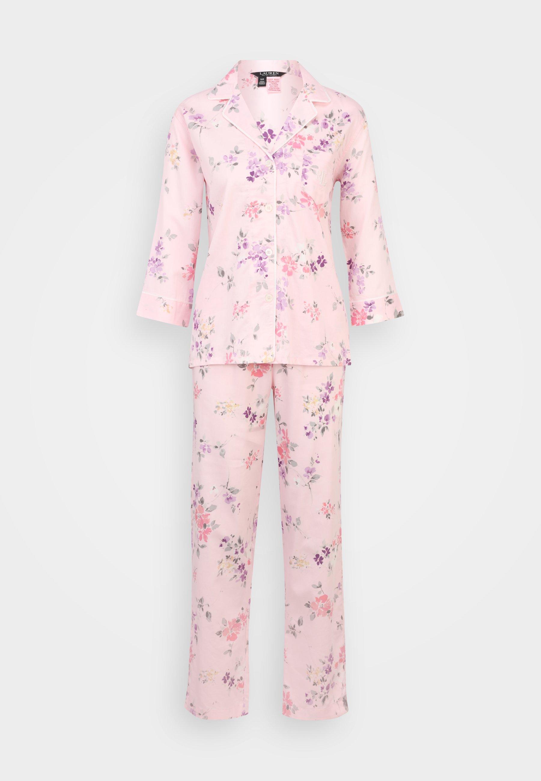 Women 3/4 SLEEVE NOTCH COLLAR PAJAMA SET - Pyjamas
