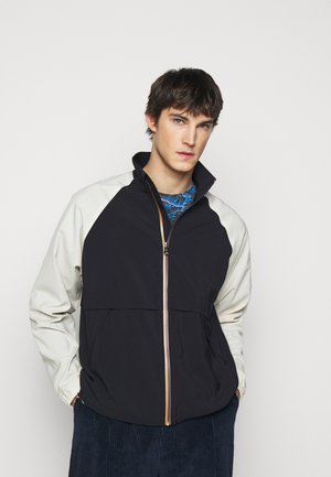 GENTS ZIP CASUAL JACKET - Giacca leggera - black/beige