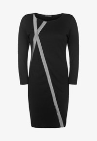 DORIS STREICH - MIT GLITZERSTREIFEN - Jersey dress - black - 0