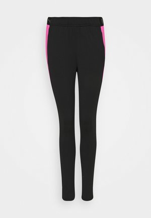 FTBLNXT PANTS - Legginsy - black/luminous pink