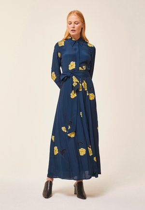 SHIRT DRESS MIDI - Vestido largo - blue