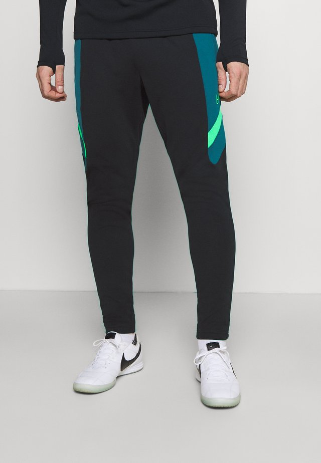 DRY ACADEMY PANT  - Tracksuit bottoms - black/dark teal green/green strike