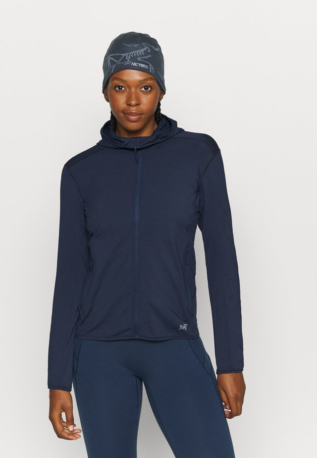 KYANITE LT HOODY WOMEN'S - Giacca in pile - cobalt moon