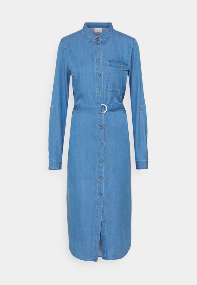 VIOAKES BISTA MIDI DRESS - Dongerikjole - medium blue denim