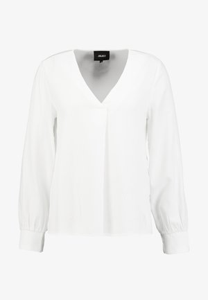 OBJEILEEN VNECK - Blouse - cloud dancer