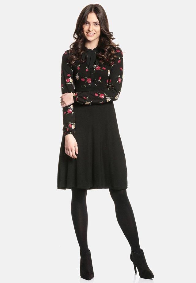 EVA S  - Day dress - schwarz allover