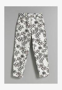 Bershka - Trousers - white - 4