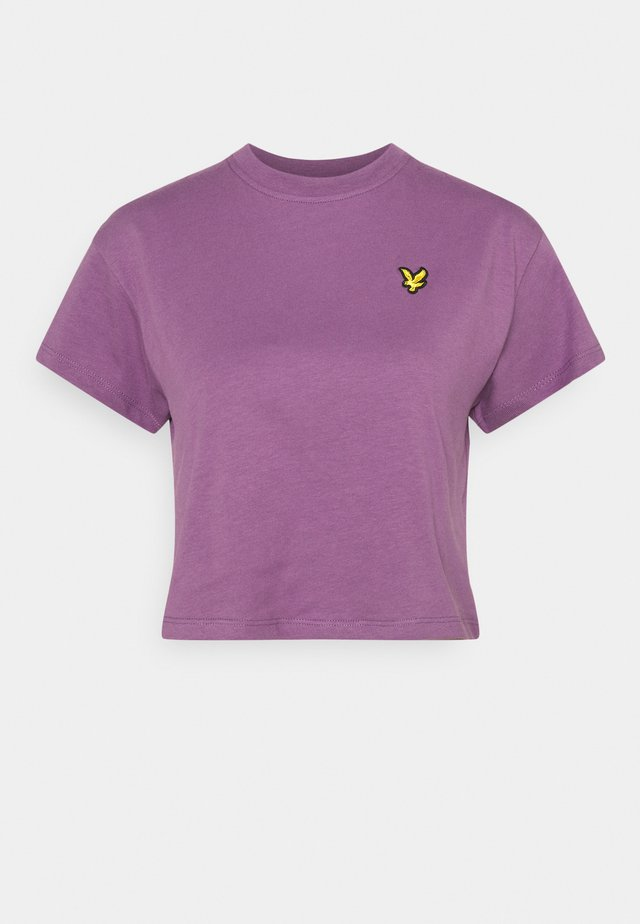 CROPPED - T-shirt basic - dark thistle