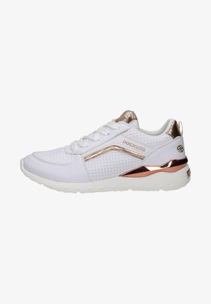 Sneakers laag - weiss/rosegold
