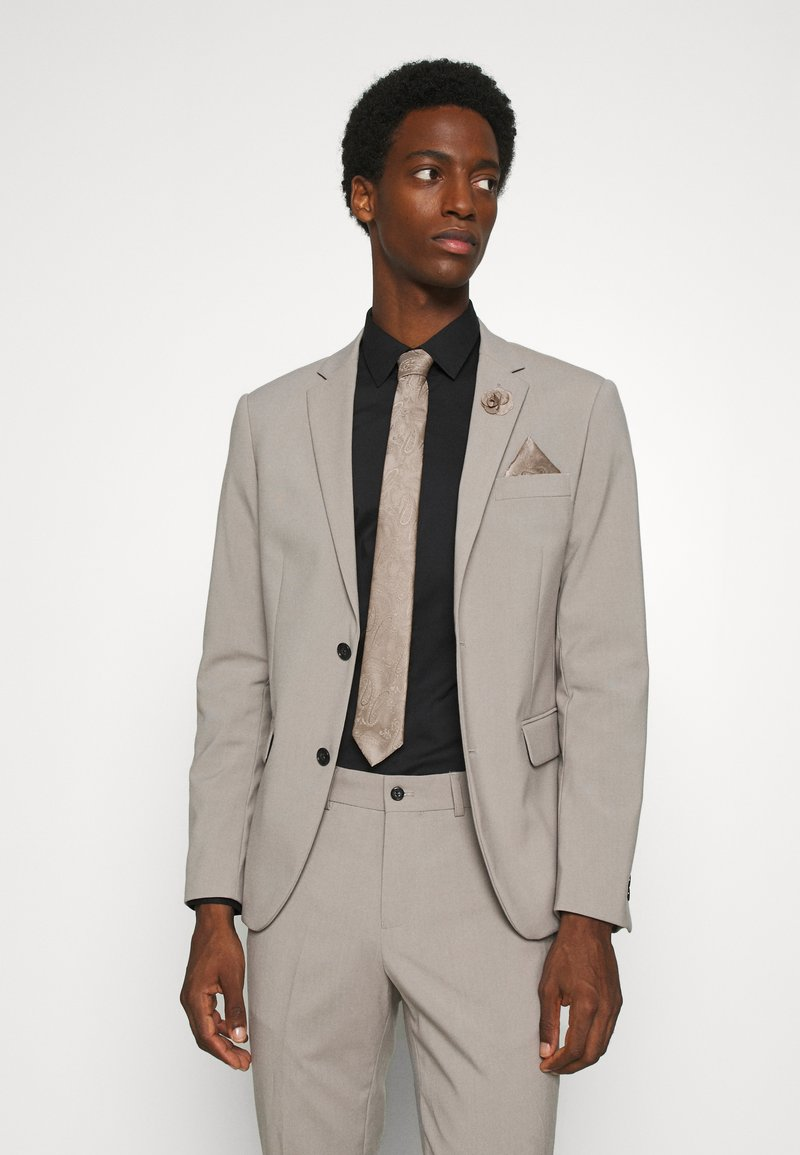 Burton Menswear London - WEDDING CHAMP SET - Tie - neutral