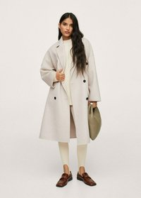 Mango - Classic coat - steenkleur - 1