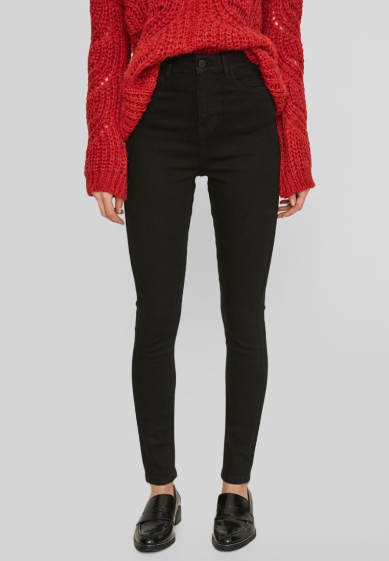 Donna NMSKYHIGH BLACK NOOS - Jeans Skinny Fit