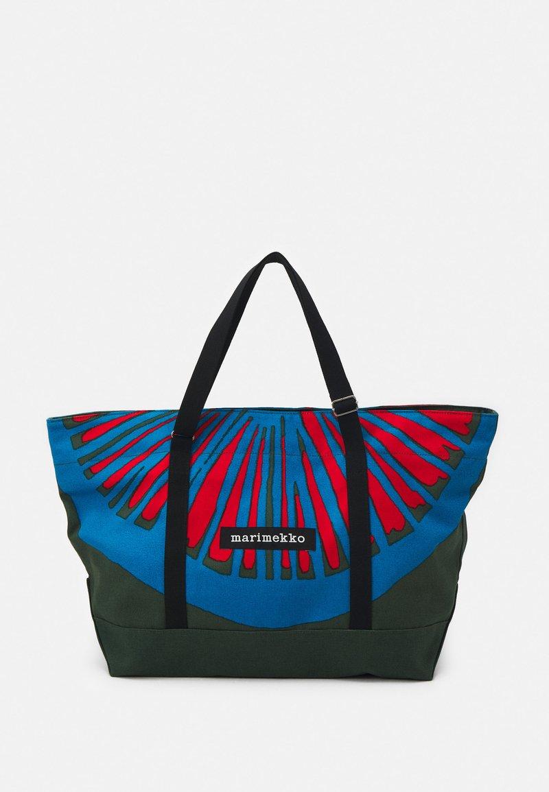 Marimekko - CREATED TANNERT APPELSIINI BAG - Weekend bag - green/blue/red