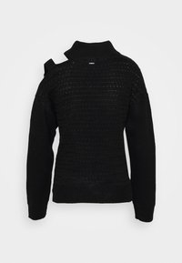 DKNY - CUT OUT RIBBED SWEATER  - Jumper - black - 1