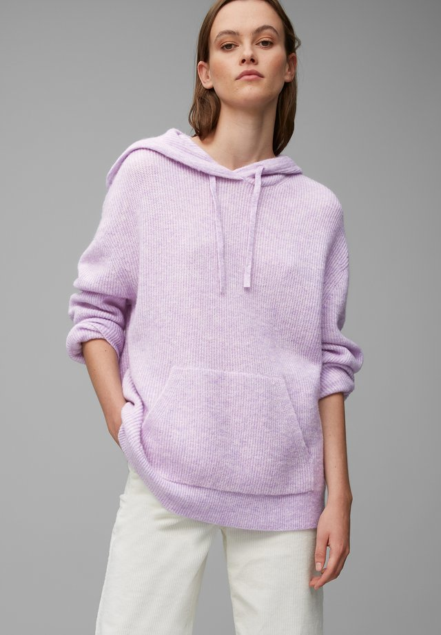 Hoodie - multi/peached purple