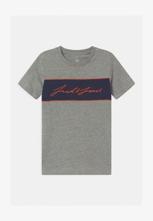 JORHIKARI CREW NECK - Print T-shirt - light grey