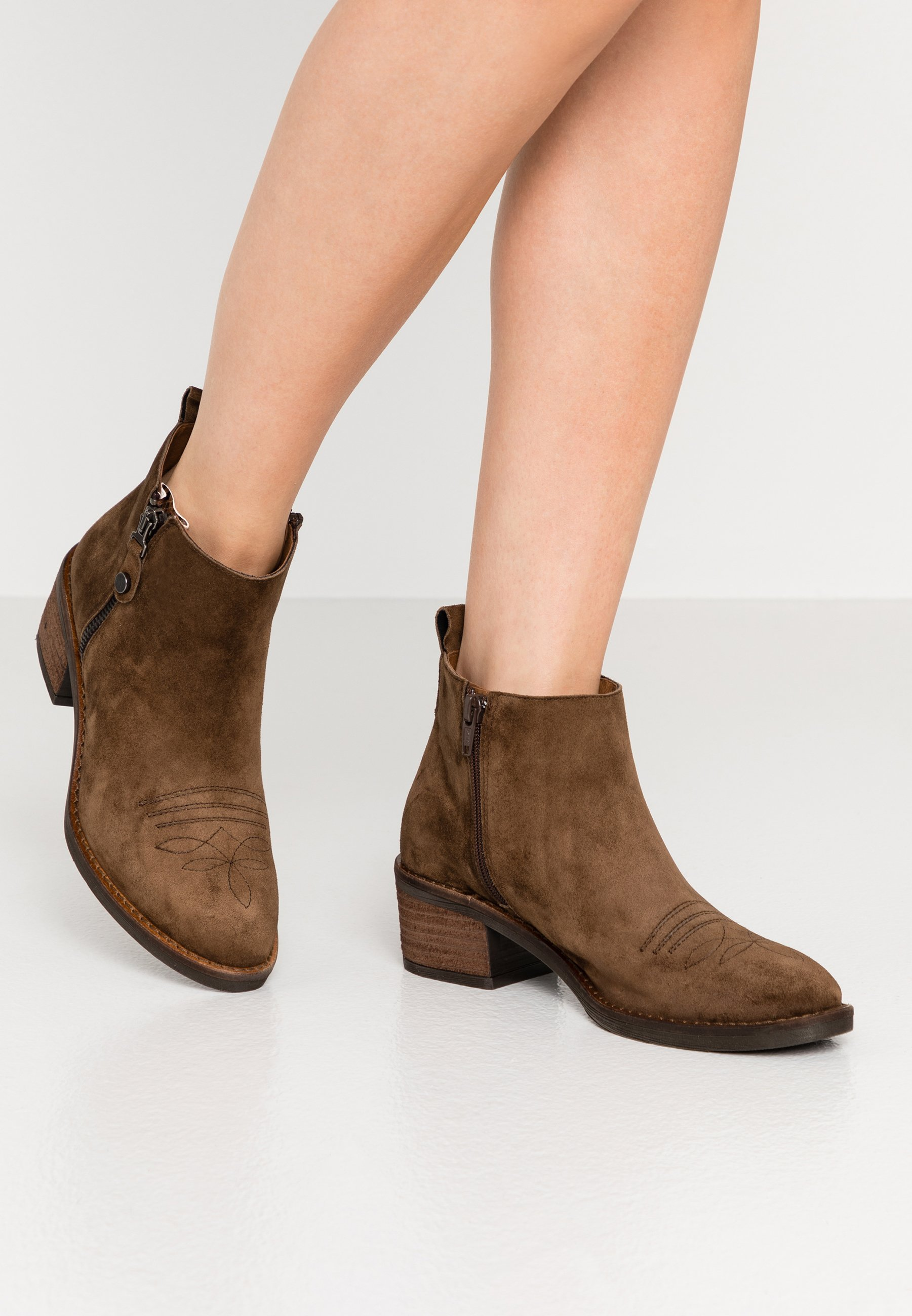 NELLY Ankelboots arabica