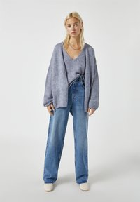 PULL&BEAR - Cardigan - mottled grey - 1