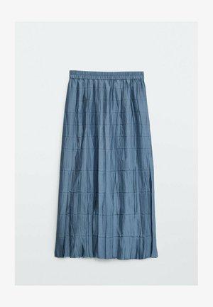 MIT STRETCHBUND - Pleated skirt - blue