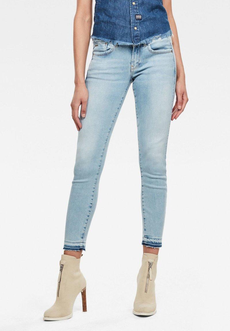 G-Star - LYNN MID SKINNY ANKLE - Jeans Skinny Fit - sun faded topaz blue