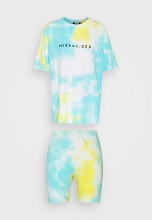COORD AND CYCLE TIE DYE SET - Shorts - blue