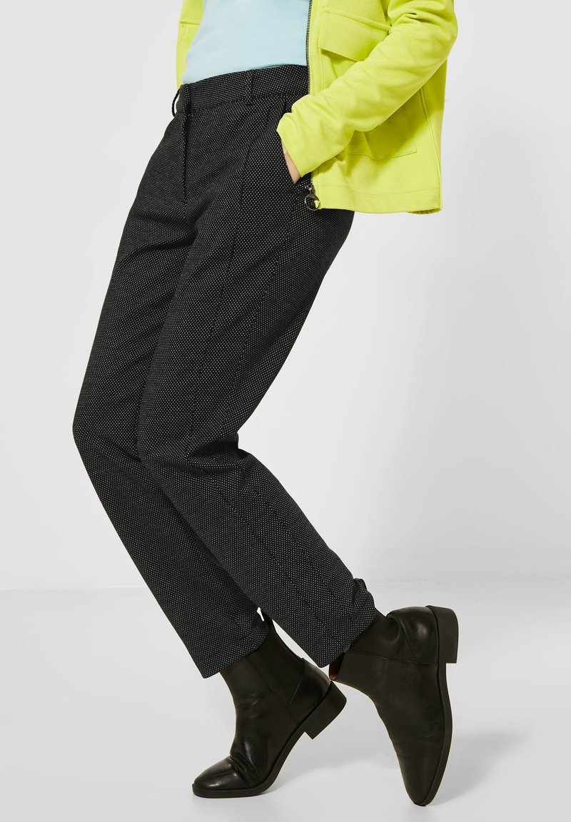 Cecil - CASUAL FIT - Trousers - schwarz
