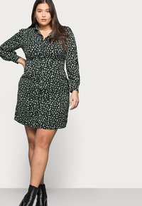 Glamorous Curve - MINI DRESS - Shirt dress - black/green - 3