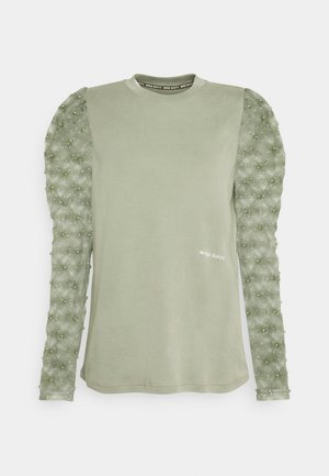 Long sleeved top - green grey
