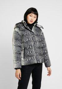Urban Classics - LADIES HOODED PUFFER JACKET - Winter jacket - grey - 0