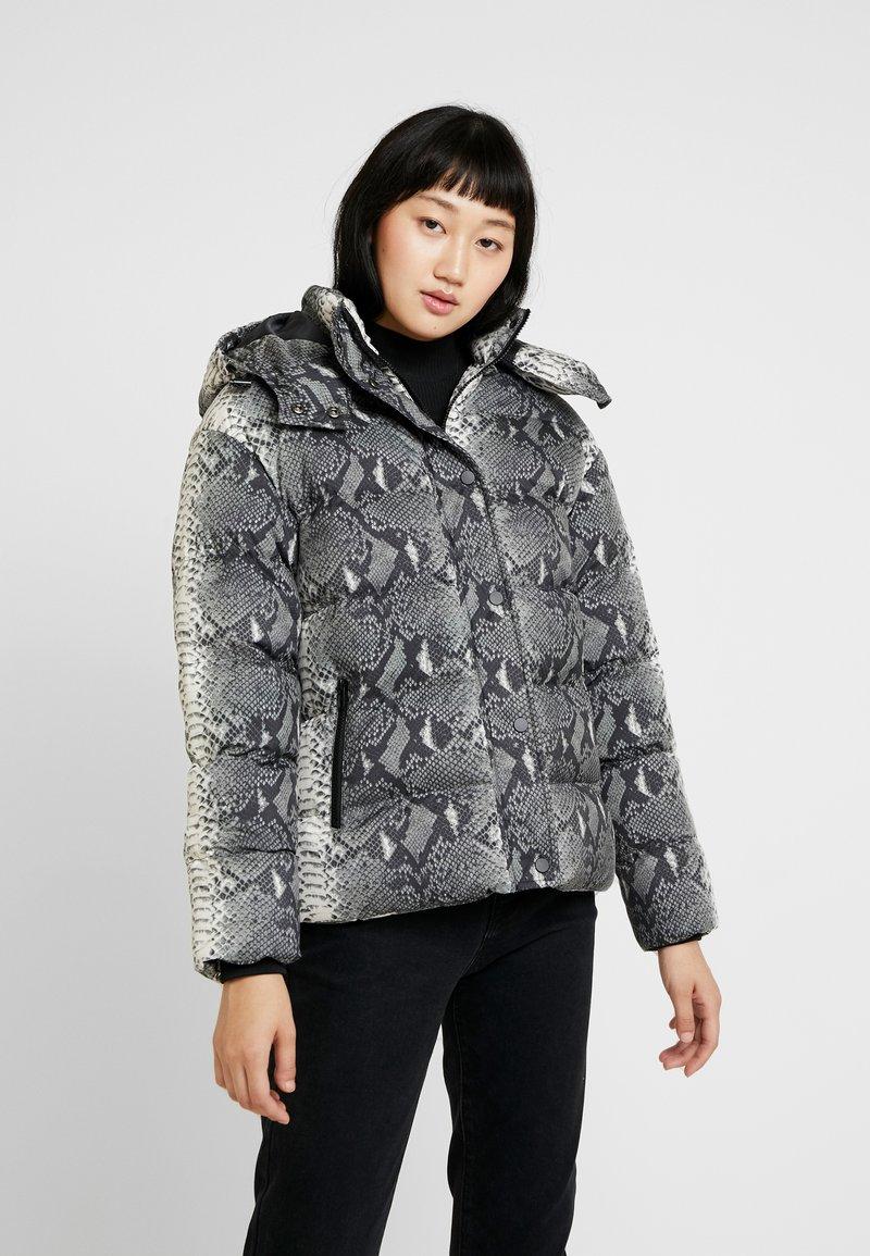 Urban Classics - LADIES HOODED PUFFER JACKET - Winter jacket - grey