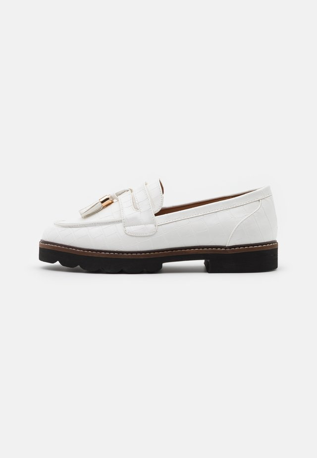 LEIGH LOAFER - Slip-ons - white