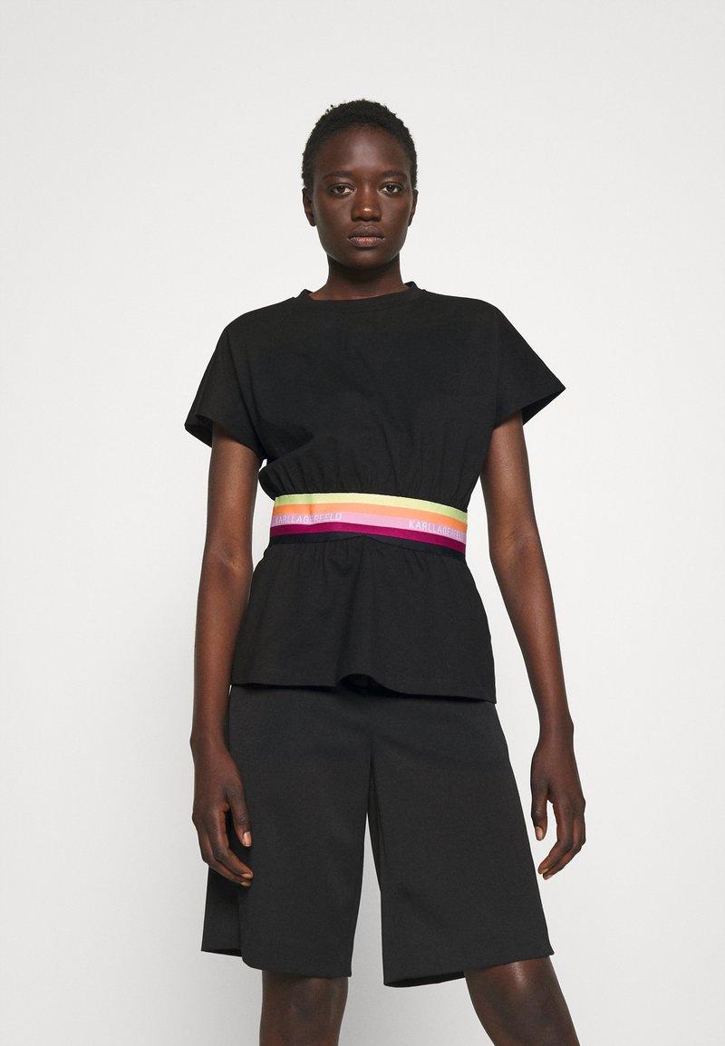 KARL LAGERFELD - RIB INSERT  - T-shirt imprimé - black