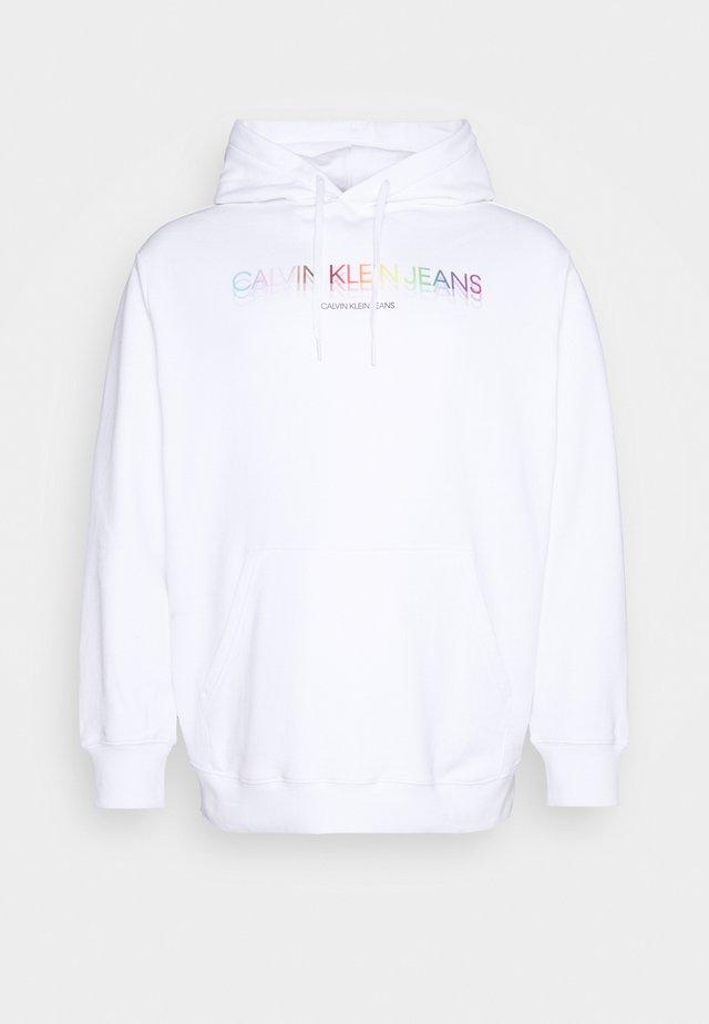 PRIDE PLUS GRAPHIC HOODIE - Sweatshirt - bright white