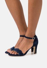 Anna Field Wide Fit - LEATHER - Sandals - dark blue - 0